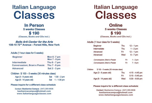 Italian Language Classes