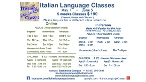 May June 2017 Italian Language Classes