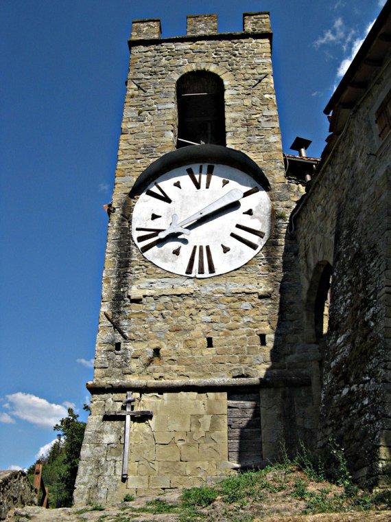 Castel San Niccolò's Clock in Province of Arezzo