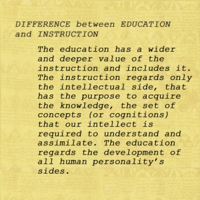 Difference between Education and Instruction