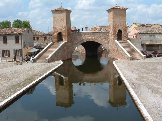 The Bridge of the Three Bridges Comacchio