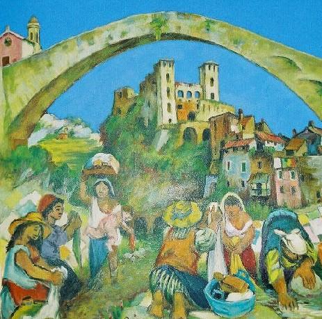 Dolceacqua Bridge Barbadirame Lavandaie