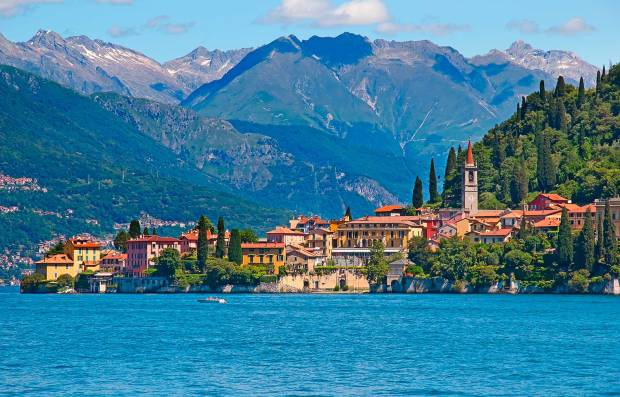 Lago di Como in Lombardia