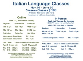 May June 2016 Italian Language Classes