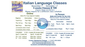 November December 2016 Italian Language Classes