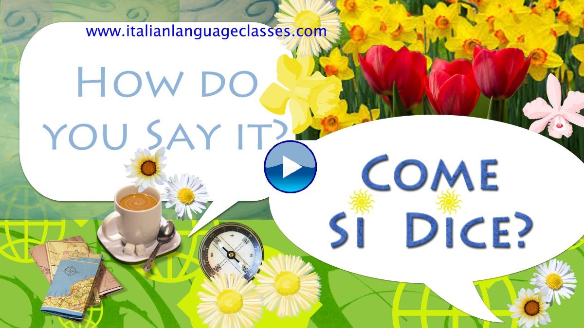 how do you say nice to meet in italian
